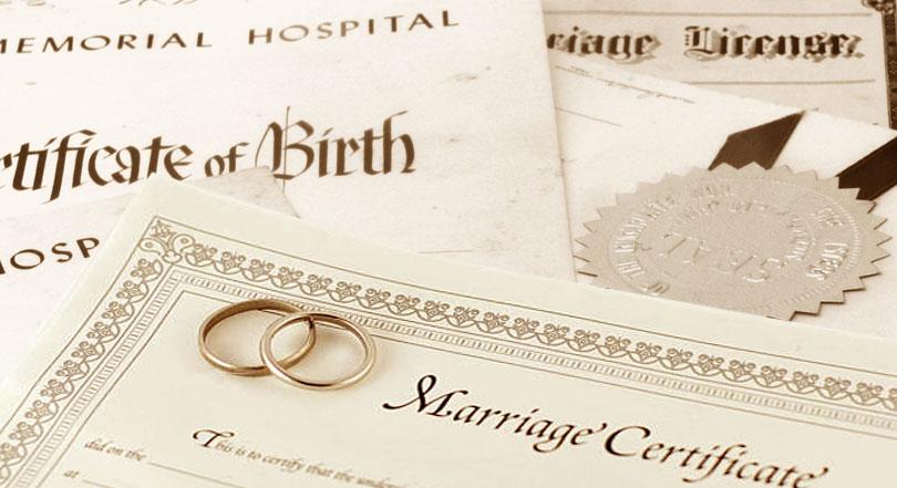 Перевод свидетельств о рождении, о браке